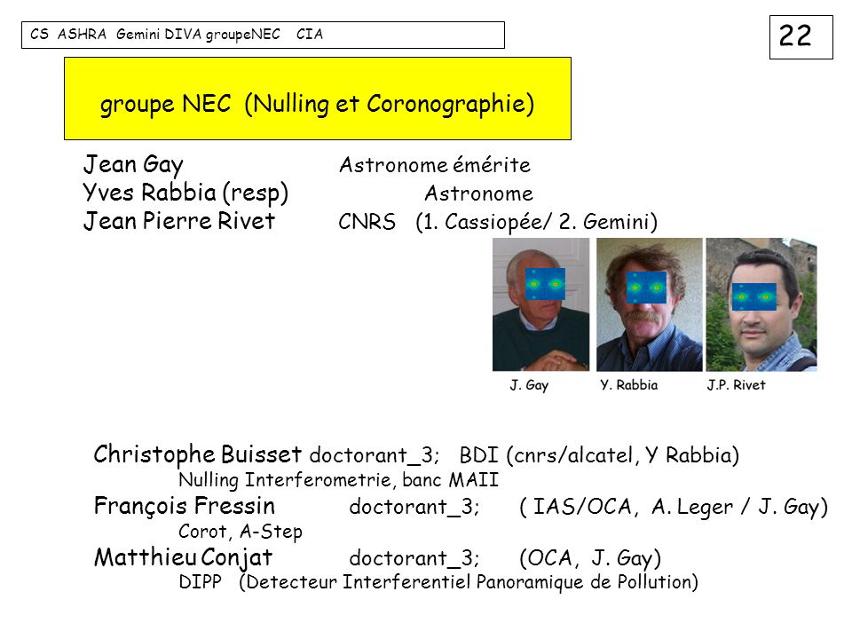 groupe NEC (Nulling et Coronographie)
