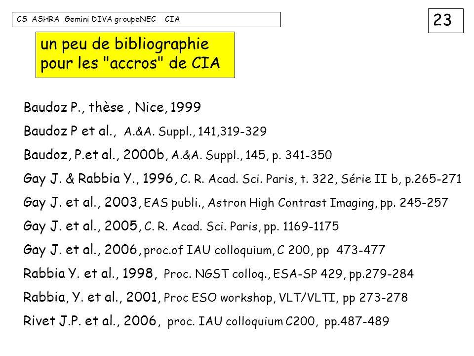 un peu de bibliographie pour les accros de CIA