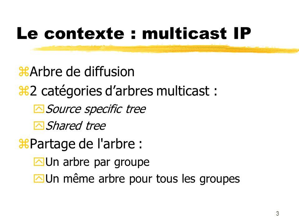 Le contexte : multicast IP