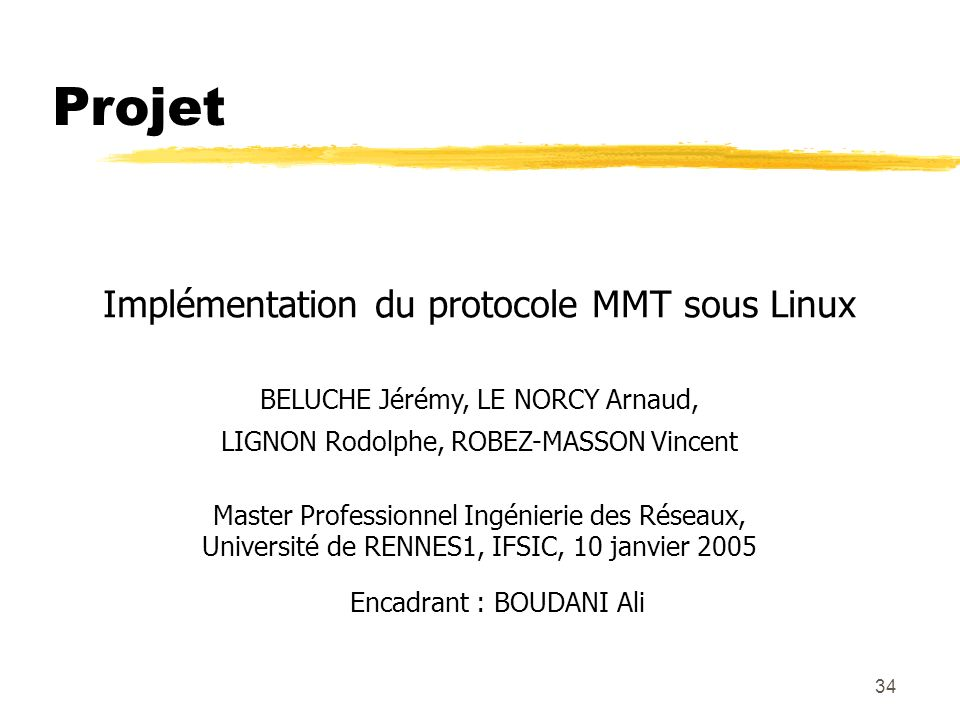 Projet Implémentation du protocole MMT sous Linux