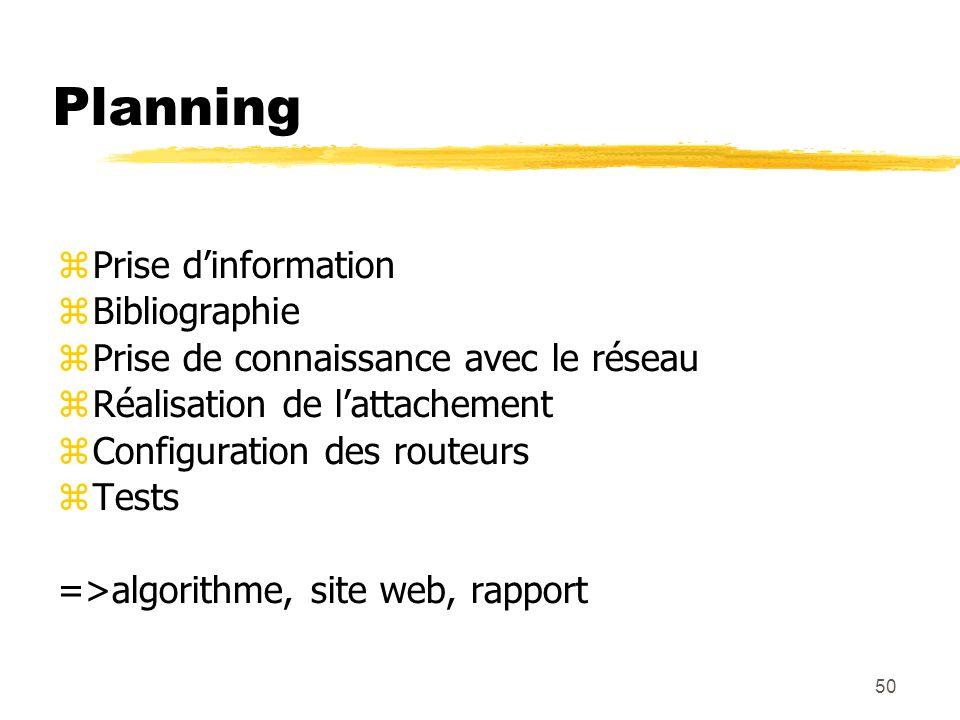 Planning Prise d'information Bibliographie