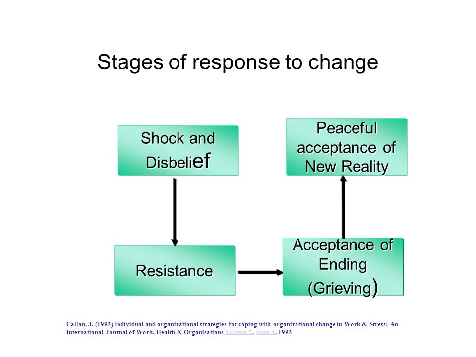 Stages of response to change