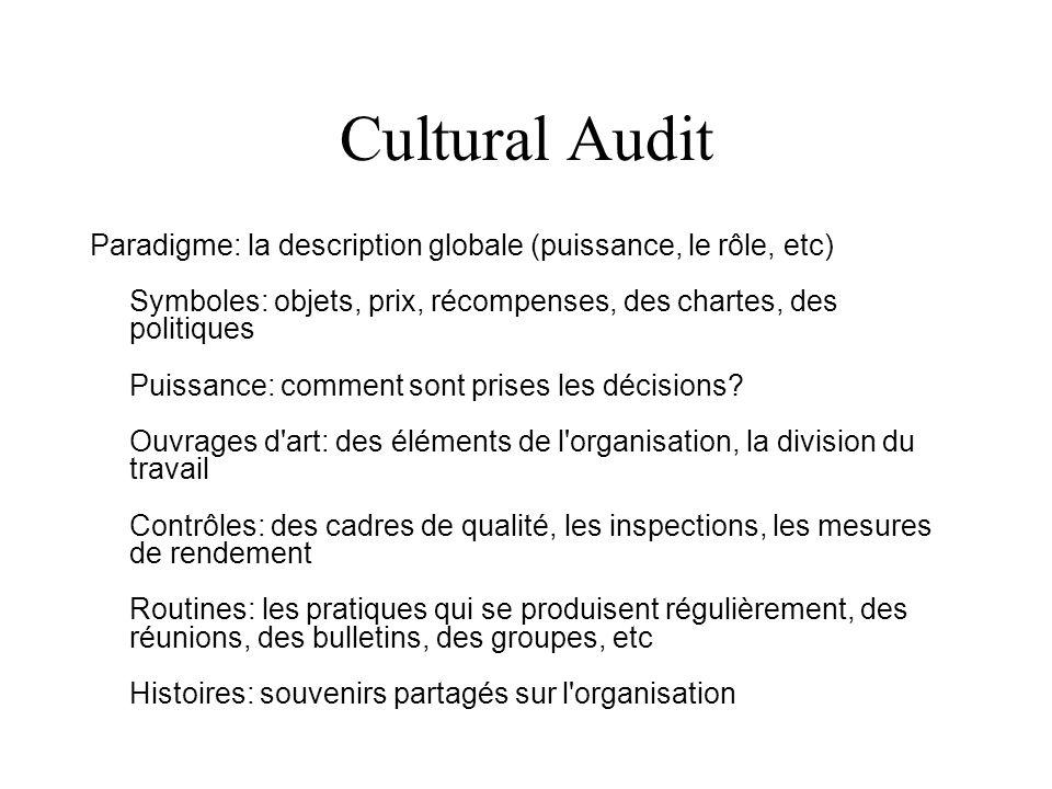 Cultural Audit