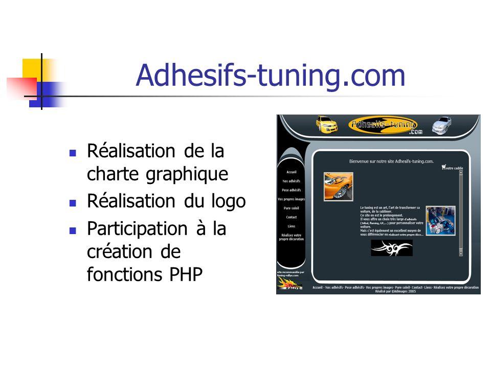 Adhesifs-tuning.com Réalisation de la charte graphique