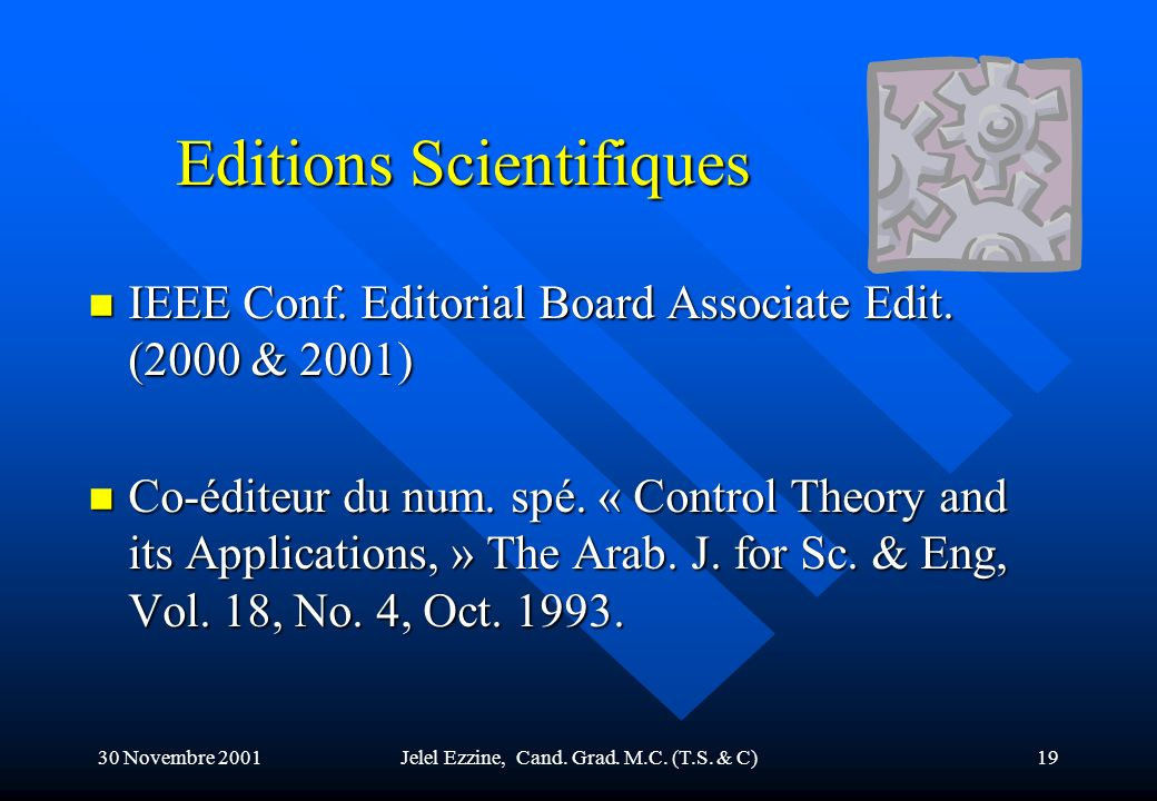 Editions Scientifiques
