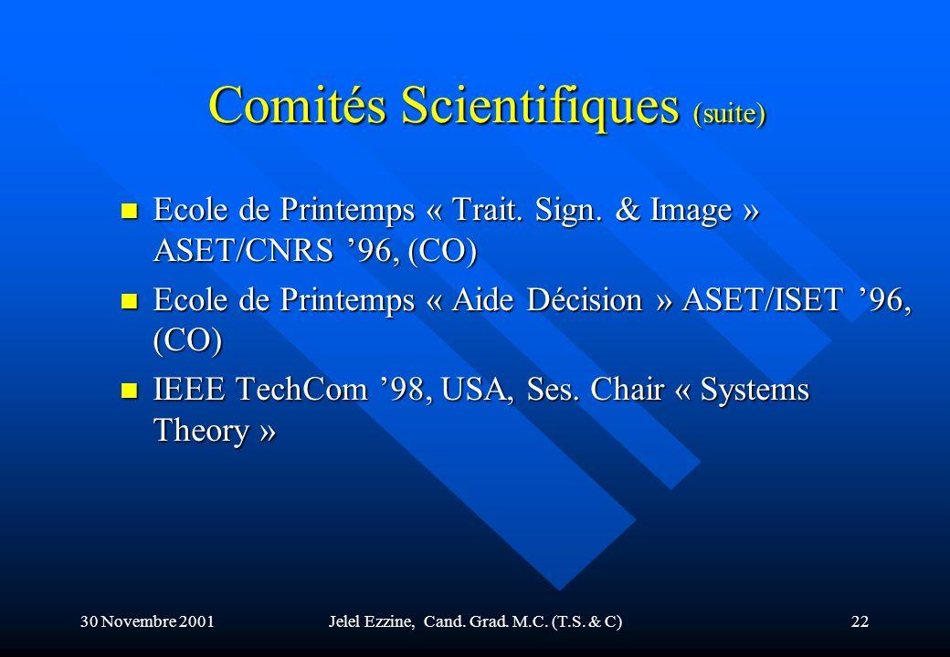 Comités Scientifiques (suite)