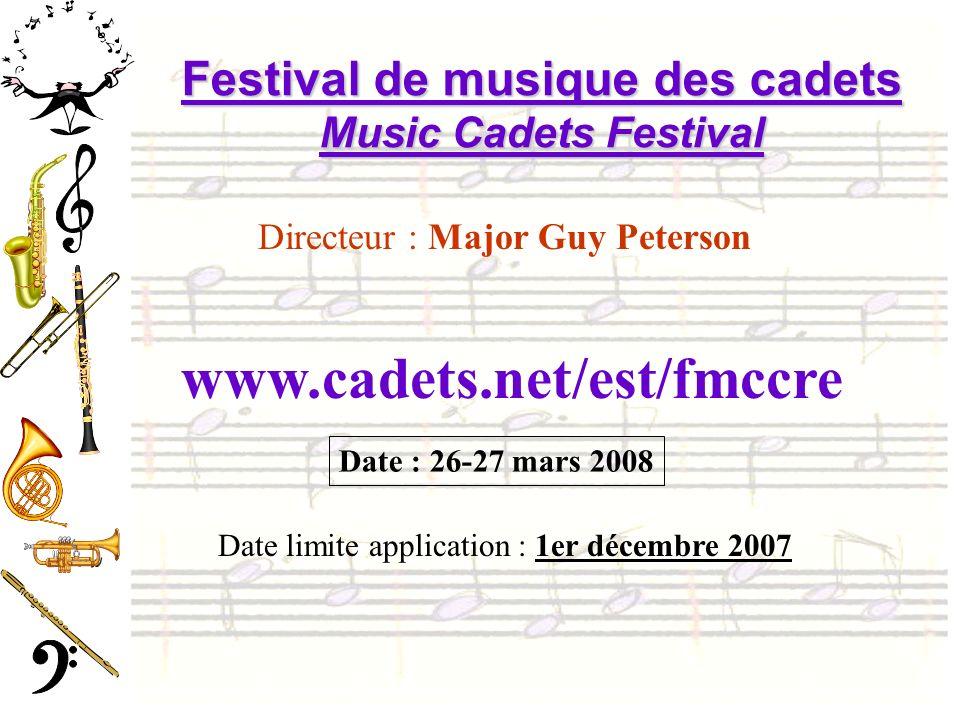 Festival de musique des cadets Music Cadets Festival
