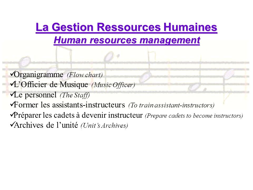 La Gestion Ressources Humaines Human resources management