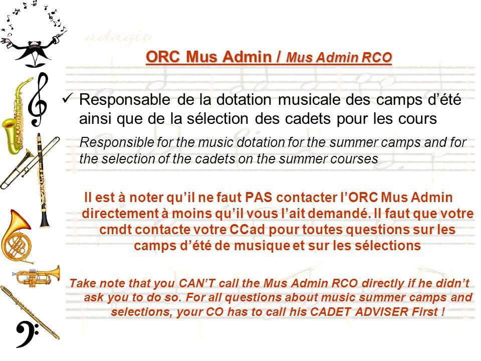 ORC Mus Admin / Mus Admin RCO