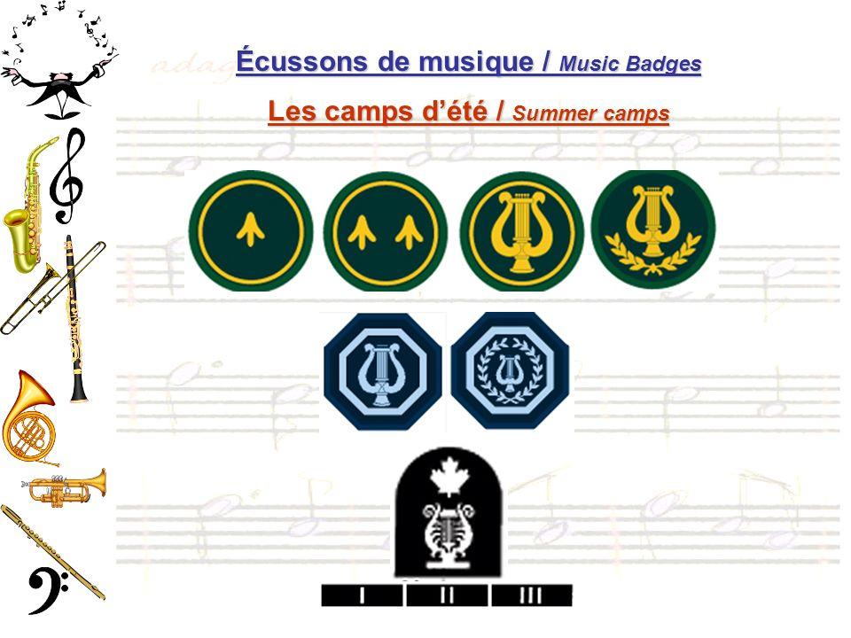 Écussons de musique / Music Badges