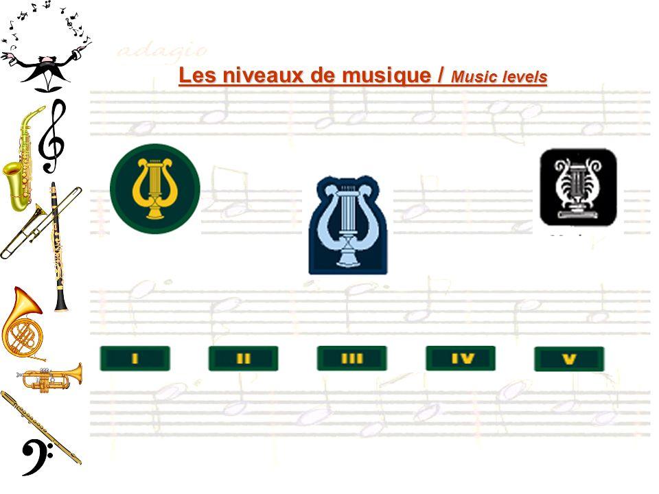 Les niveaux de musique / Music levels