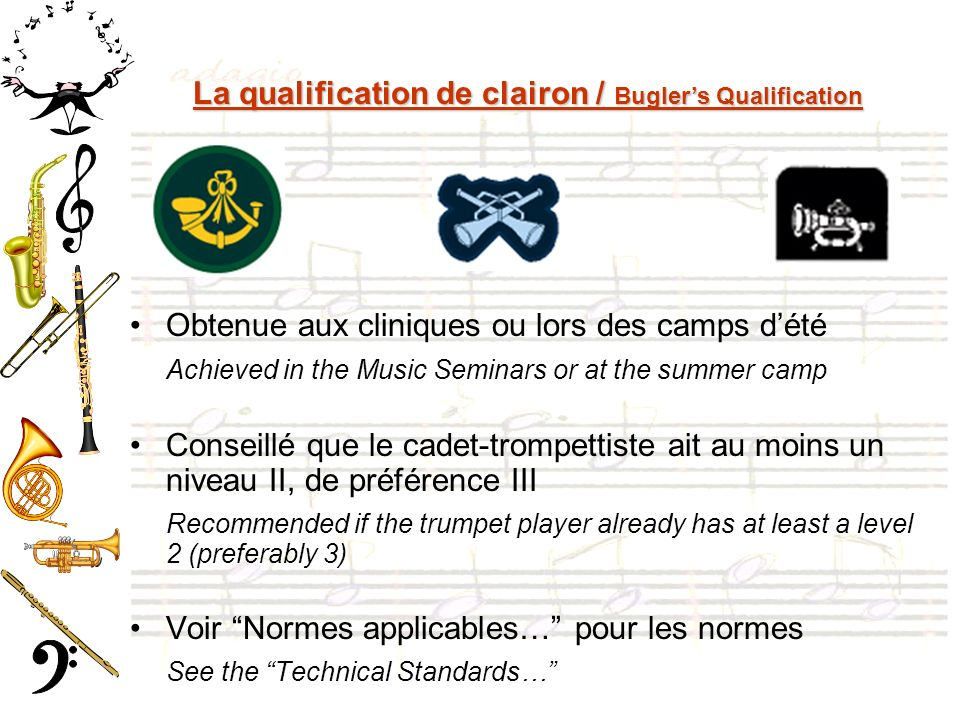 La qualification de clairon / Bugler's Qualification
