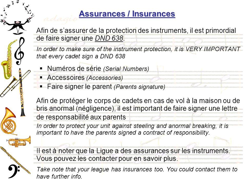 Assurances / Insurances