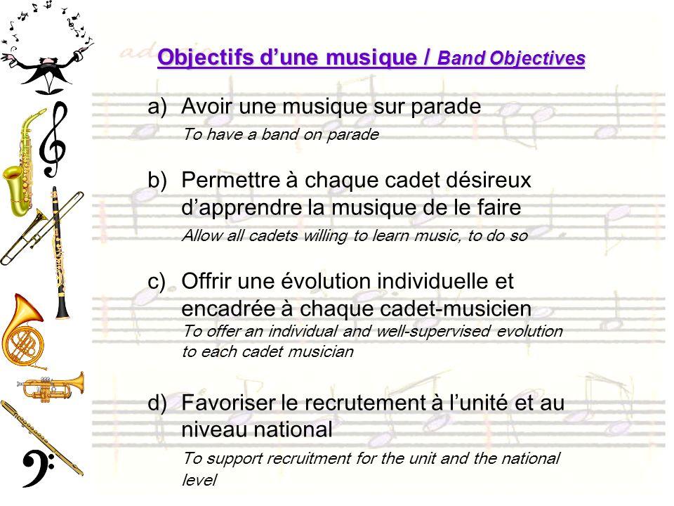 Objectifs d'une musique / Band Objectives