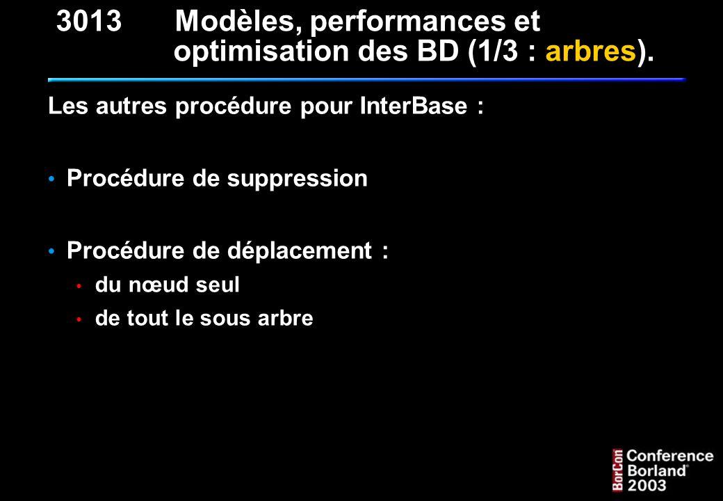 3013 Modèles, performances et optimisation des BD (1/3 : arbres).
