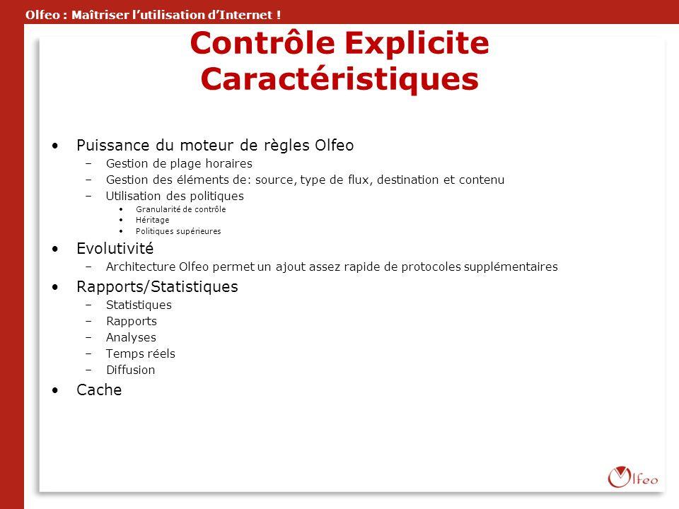 Contrôle Explicite Caractéristiques