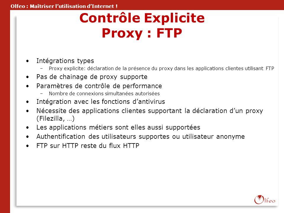 Contrôle Explicite Proxy : FTP