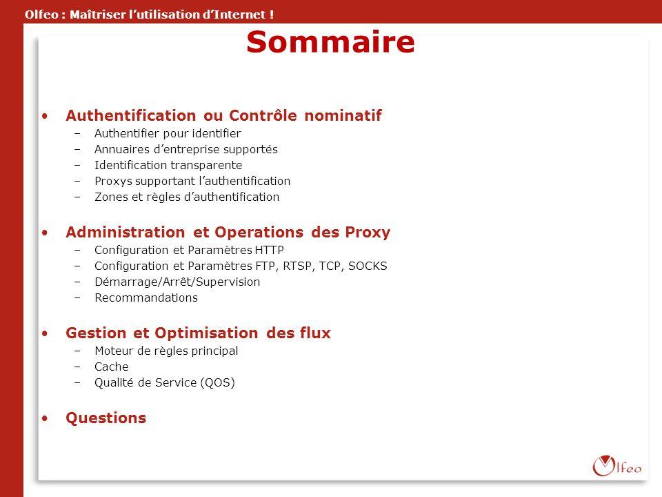 Sommaire Authentification ou Contrôle nominatif