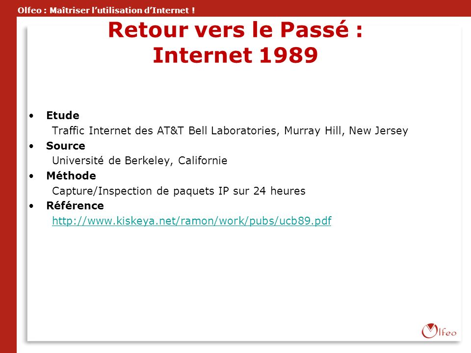 Retour vers le Passé : Internet 1989
