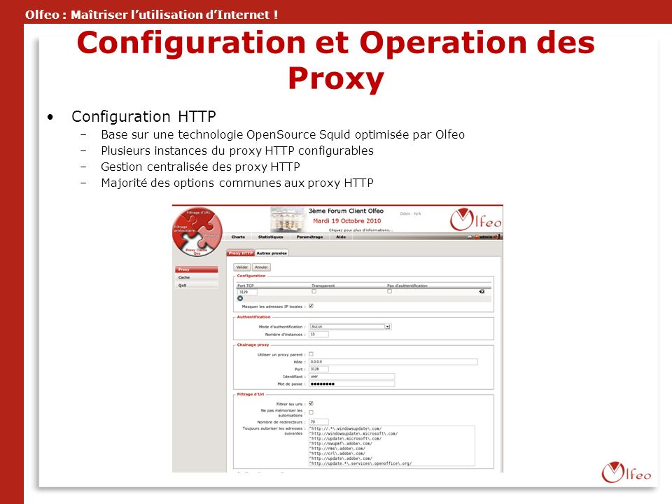 Configuration et Operation des Proxy