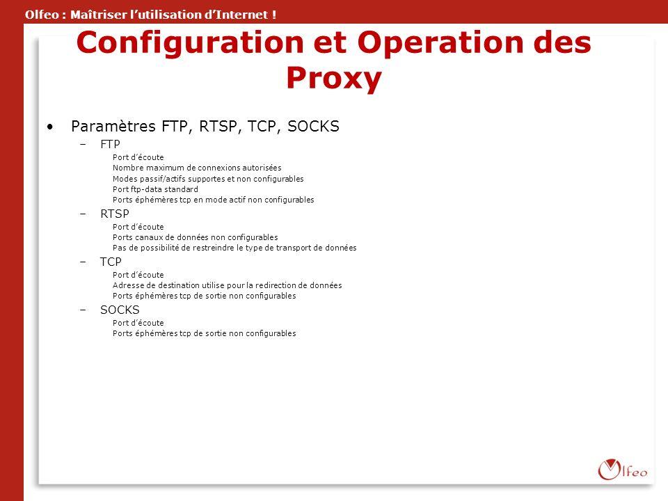 Configuration et Operation des Proxy