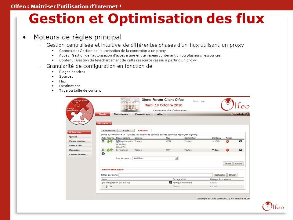 Gestion et Optimisation des flux