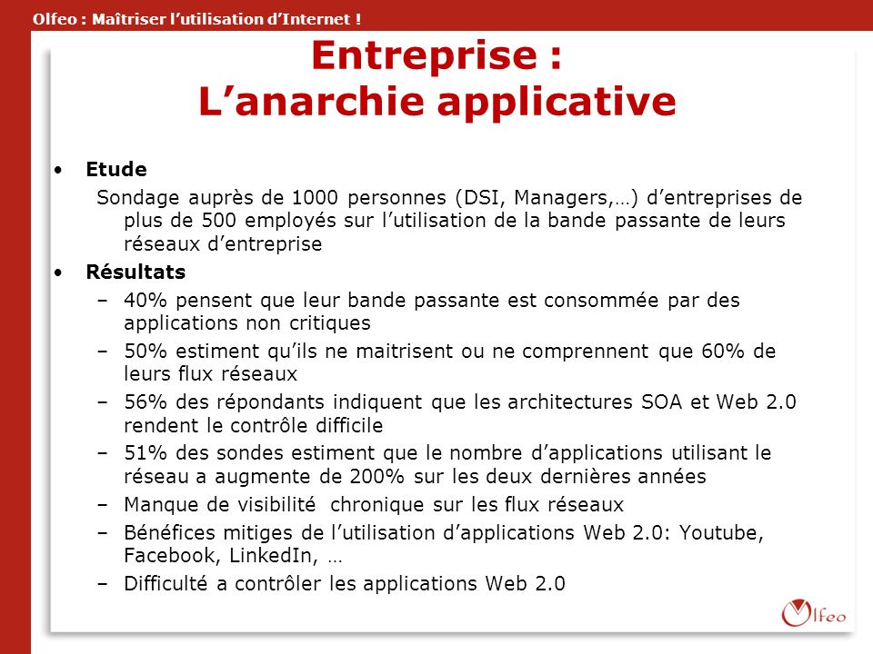 Entreprise : L'anarchie applicative