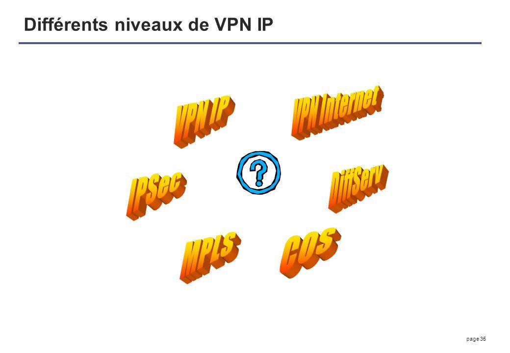 Différents niveaux de VPN IP
