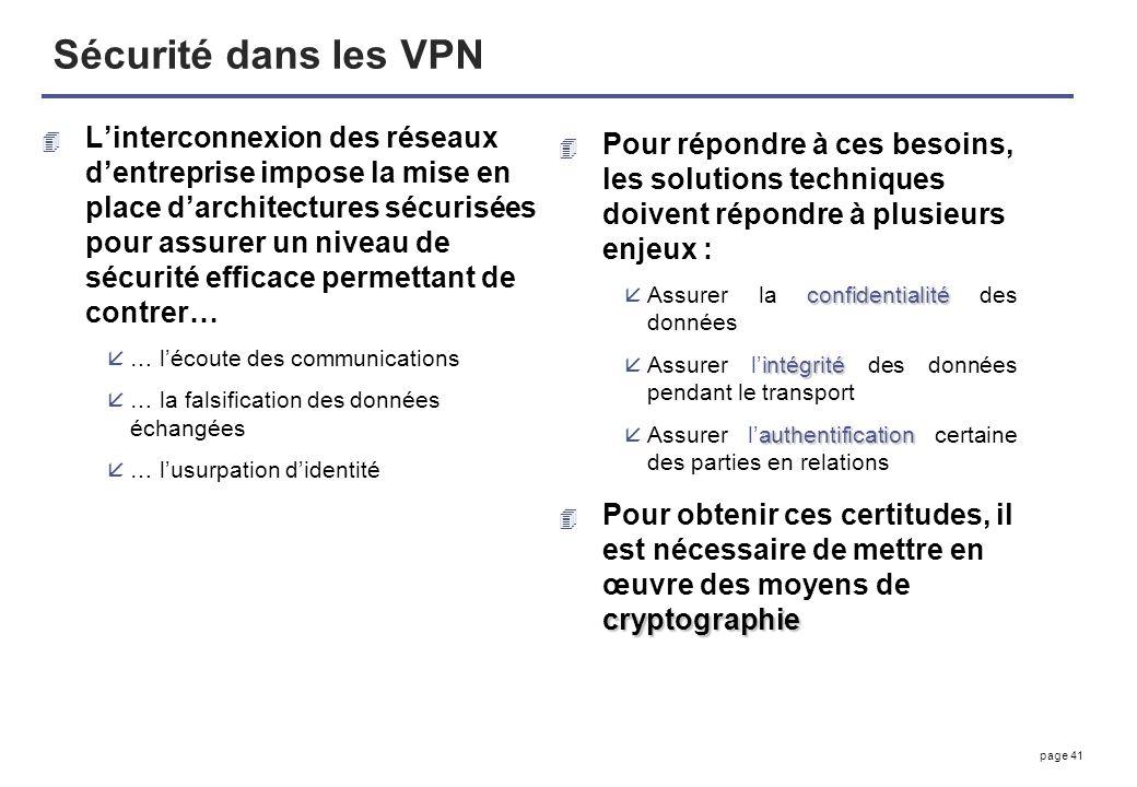 Sécurité dans les VPN