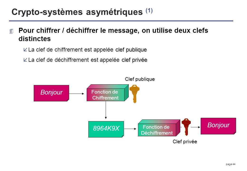 Crypto-systèmes asymétriques (1)