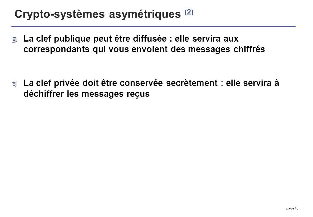 Crypto-systèmes asymétriques (2)