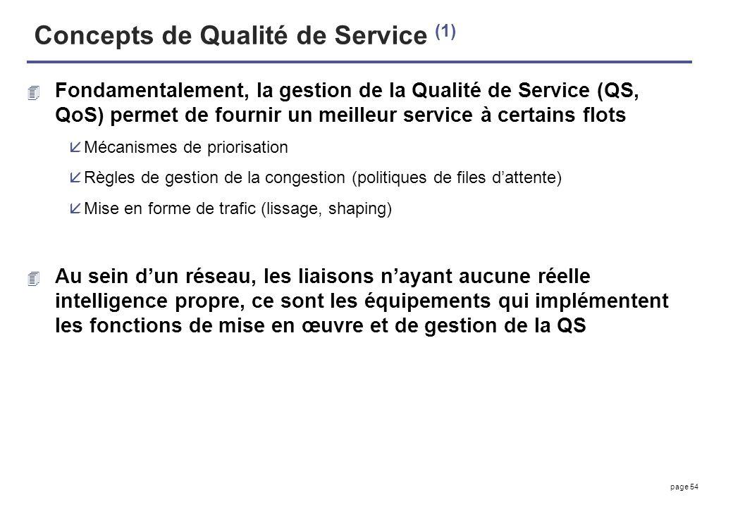Concepts de Qualité de Service (1)
