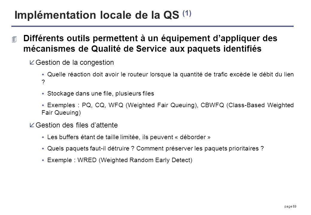 Implémentation locale de la QS (1)
