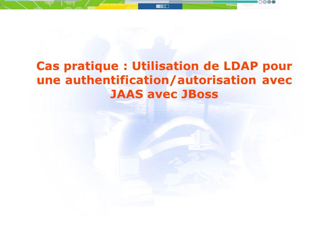 Cas pratique : Utilisation de LDAP pour une authentification/autorisation avec JAAS avec JBoss
