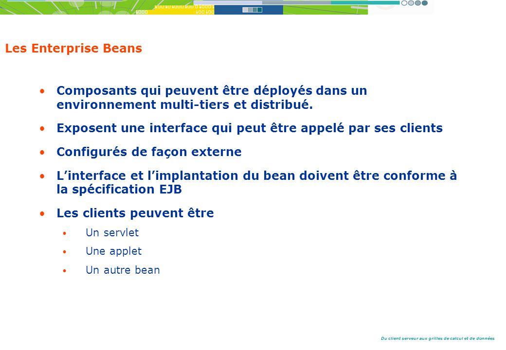 Exposent une interface qui peut être appelé par ses clients