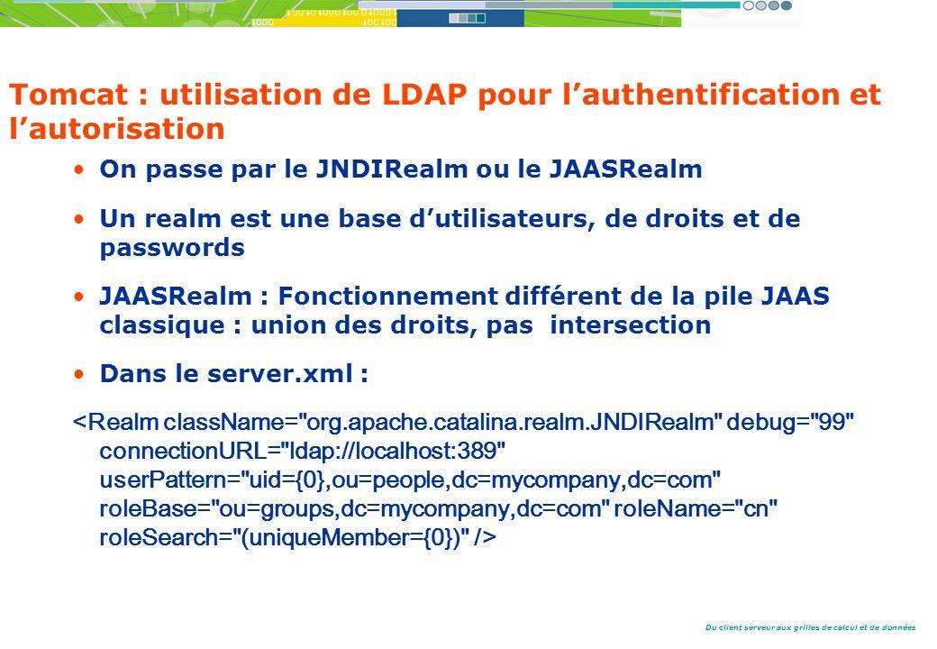 Tomcat : utilisation de LDAP pour l'authentification et l'autorisation