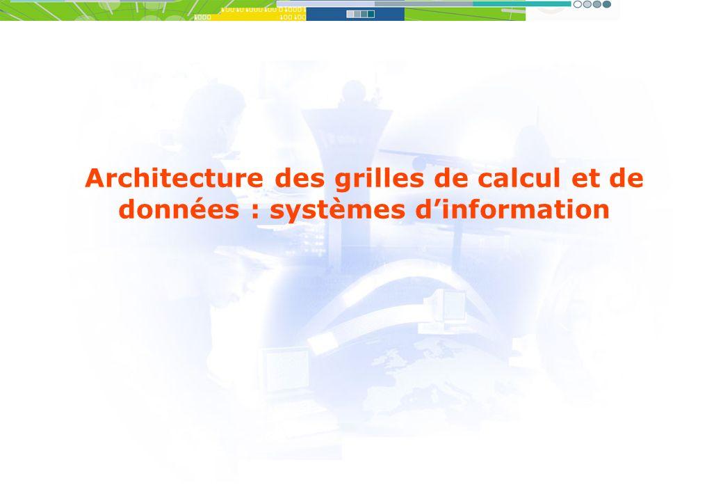 Architecture des grilles de calcul et de données : systèmes d'information