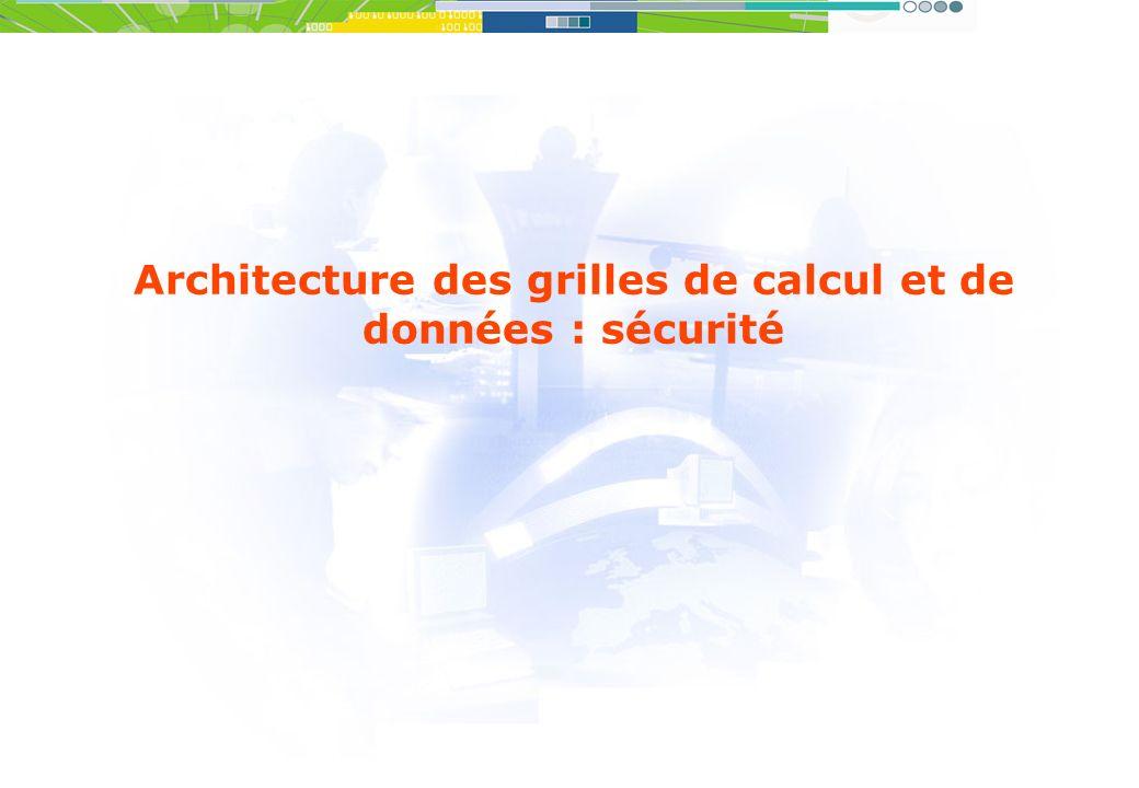 Architecture des grilles de calcul et de données : sécurité