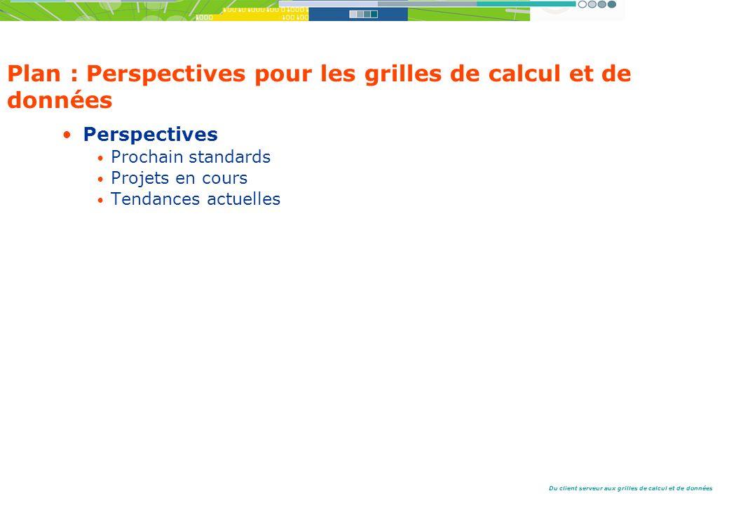 Plan : Perspectives pour les grilles de calcul et de données