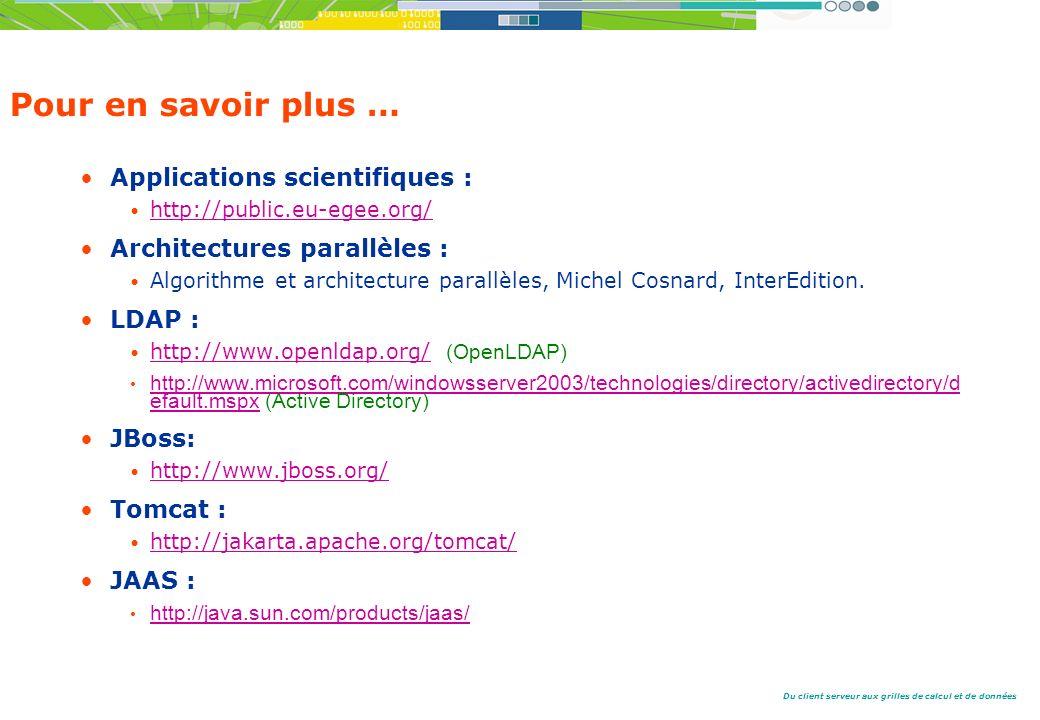 Pour en savoir plus … Applications scientifiques :