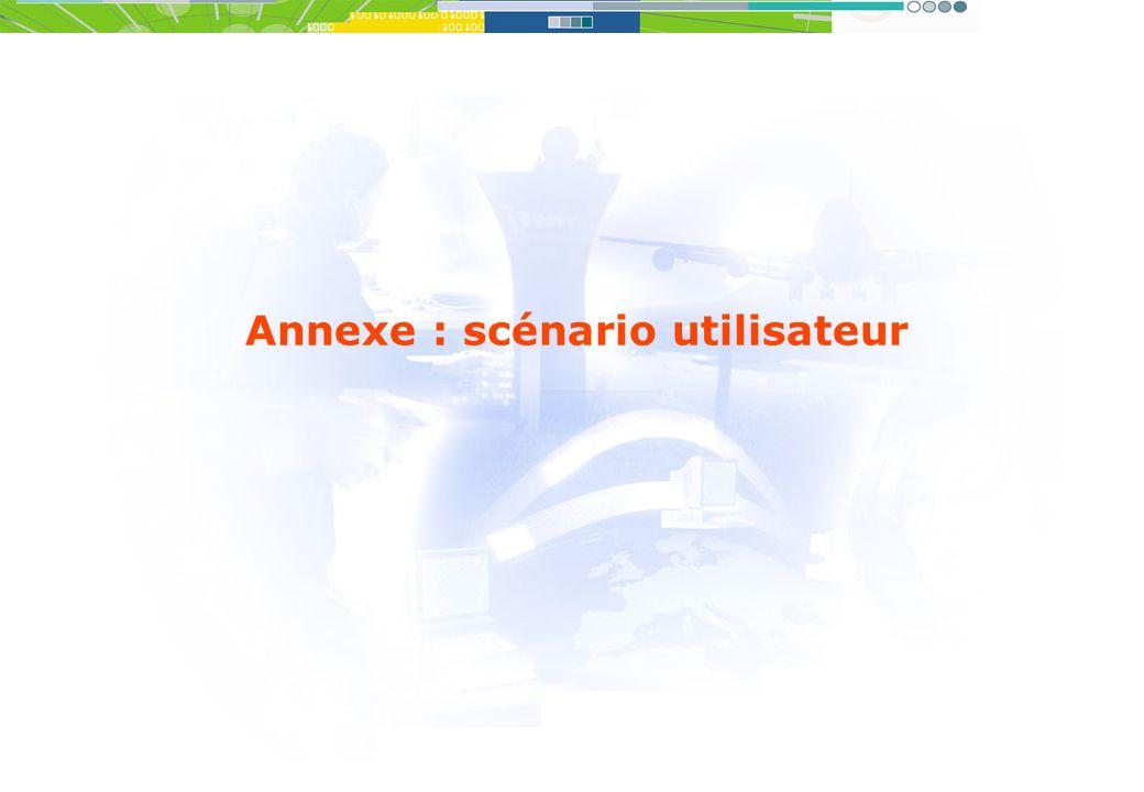 Annexe : scénario utilisateur