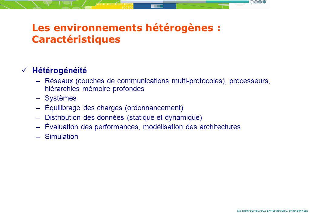Les environnements hétérogènes : Caractéristiques
