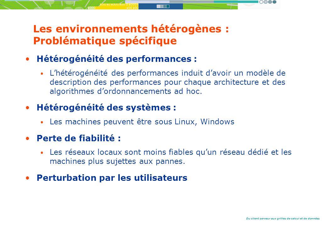 Les environnements hétérogènes : Problématique spécifique