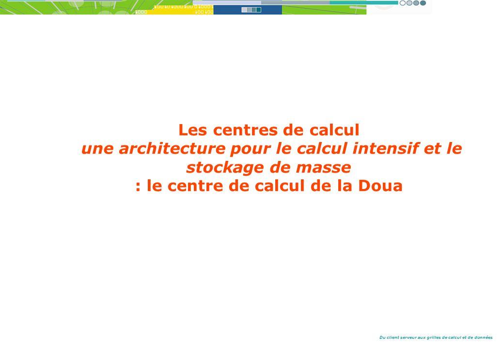 Les centres de calcul une architecture pour le calcul intensif et le stockage de masse : le centre de calcul de la Doua