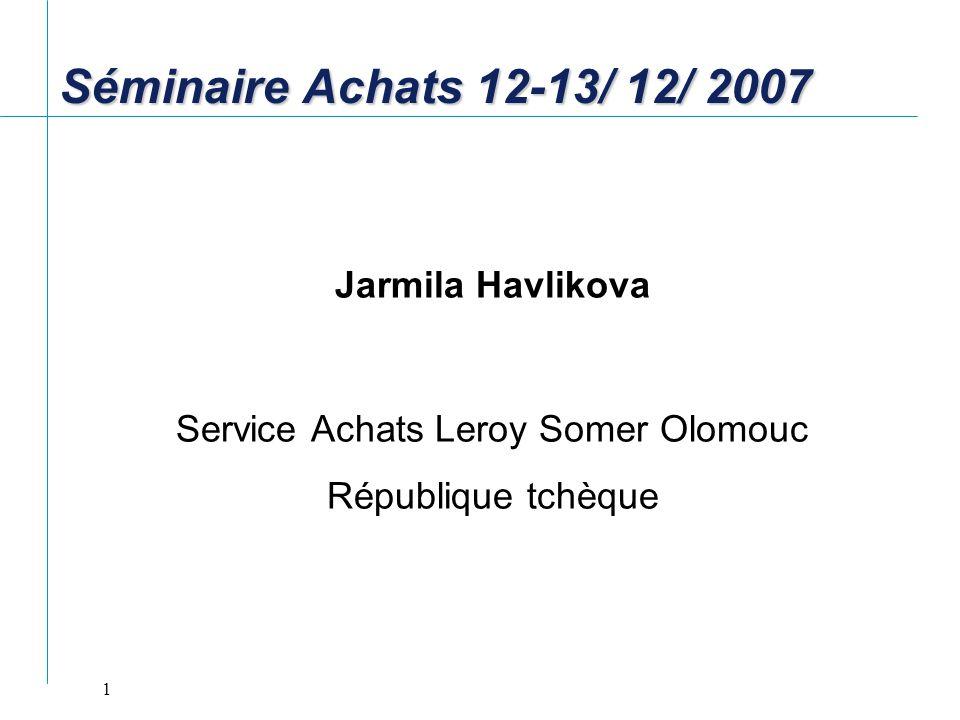 Service Achats Leroy Somer Olomouc