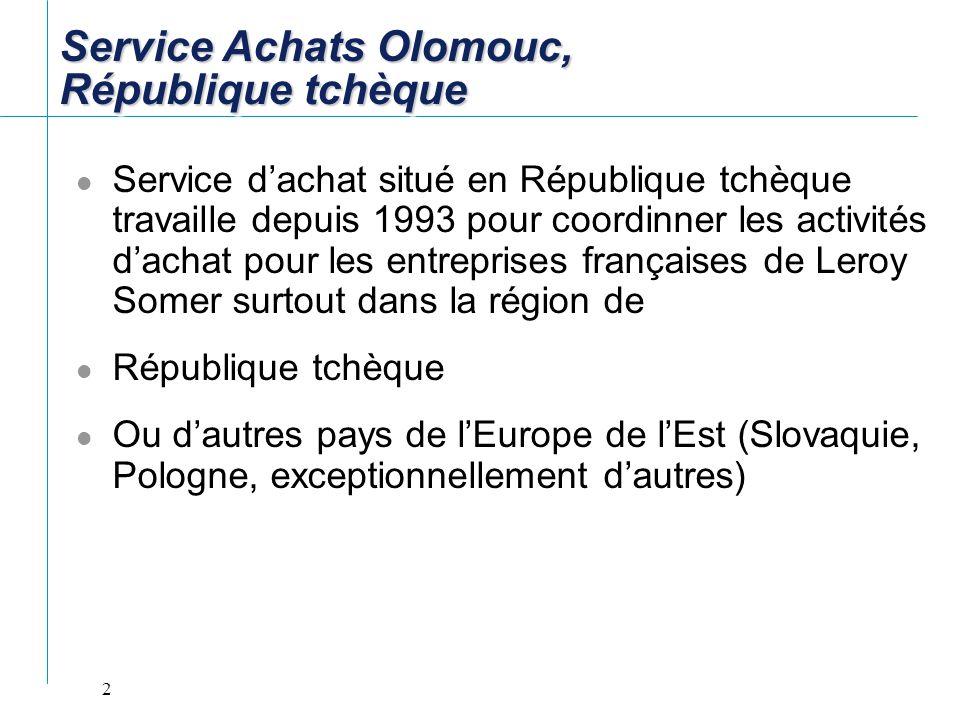 Service Achats Olomouc, République tchèque