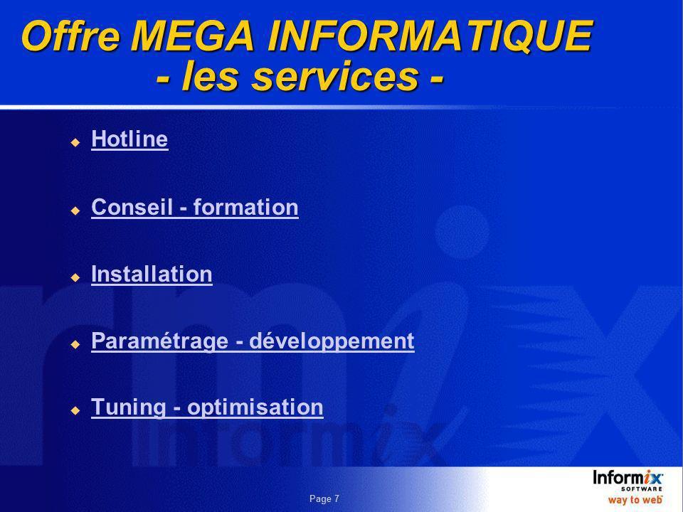 Offre MEGA INFORMATIQUE - les services -