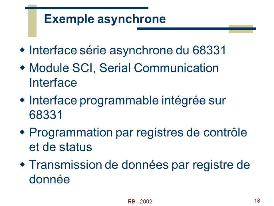 Interface série asynchrone du 68331