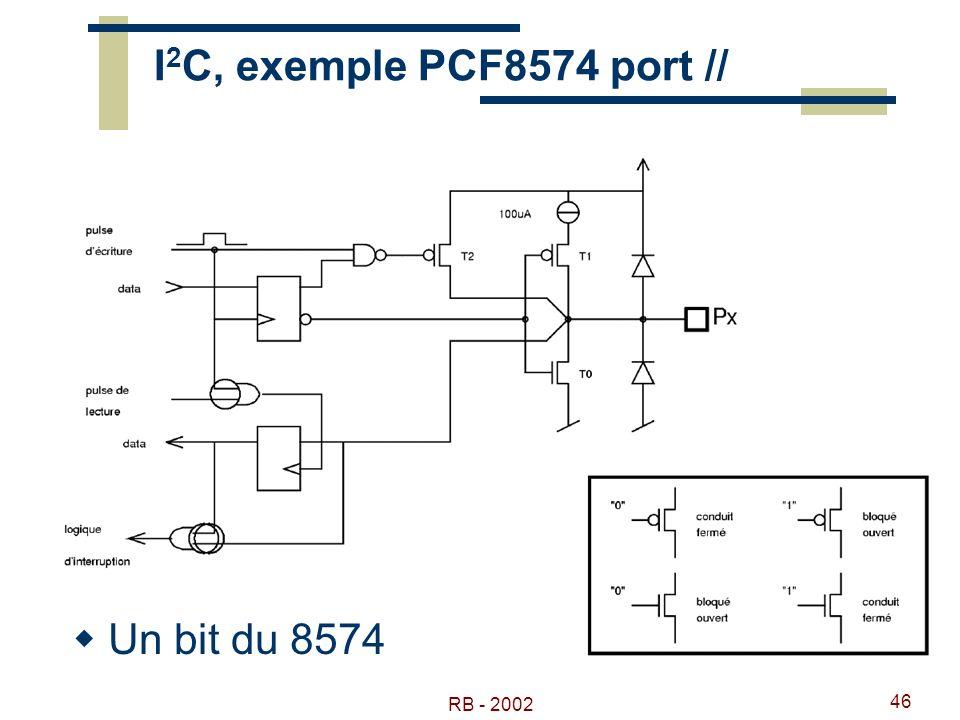 I2C, exemple PCF8574 port // Un bit du 8574 RB - 2002