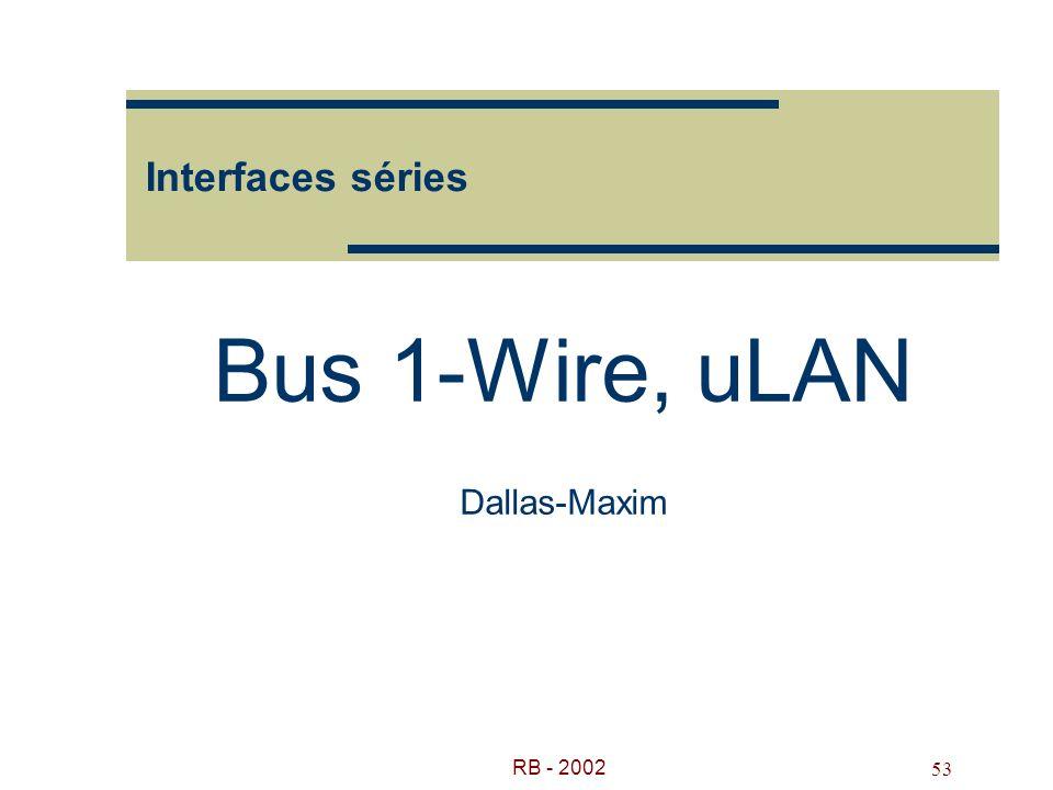 Bus 1-Wire, uLAN Dallas-Maxim